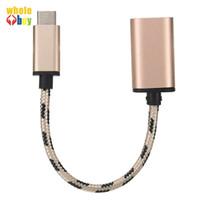 معدن رئيس النوع C إلى USB نقل نوع (أ) OTG البيانات محول شاحن الحياكة الكابل لنوكيا N1 100pcs التي / الكثير