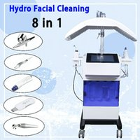 Mikrodermabrazyon Hidrofasiyal Makine Cilt Rejuvanation Güzellik Salonu Ekipmanları Yüz Temizleme 8 in 1 Hidrofasiyal Aqua Yüz