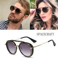 2020 DPZ Moda Mujeres Ronda de gafas de sol de los hombres de Steampunk Diseño Marca Gafas de sol UV400 de las mujeres del verano Sombras