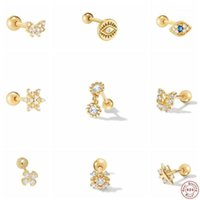 Aide 925 Sterling Silver Cute Mini Butterfly Studded With Diamond Piercing Cartilage Stud Earrings For Women Girls Gifts Jewelry1