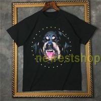 2021 Sommer heiße Flut Europe Kleidung Herren 3D Rottweiler Druck T-shirt Hip Hop Diamant Tshirts Designer T-shirt Frauen Casual Baumwolle TOPS TEE