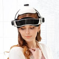 2020 Electric Heating Neck Head Massage Helmet Air Pressure Vibration Therapy Massager Music Muscle Stimulator Health Care