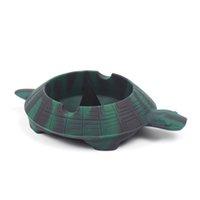 Üst Çevre Dostu Sevimli Yumuşak Kırılmaz Kaplumbağa Taşınabilir Sigara Küllük Paramparça Tütün Kavanozları Yüksek Kalite