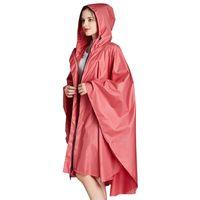 Yuding 1 unid seis colores lisos de buena calidad adulto impermeable hombres con capucha capa de lluvia capa mujer trinchera lluvia poncho con bolso 201028