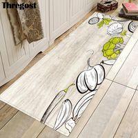 Thregost Kitchen Floor Mats Printed Microfiber Anti-Slip Europe Door Mat Entrance Rugs Washable Home Mats Long Indoor Doormat