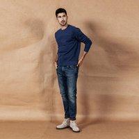 Simwood осень зима новых джинсов мужчины мода разорвал высокое качество плюс размер бренда одежда джинсовые брюки 190361 Y200116