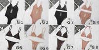 Venta al por mayor 2021 Bikini Bikini Skadst Traje de baño Diseño Deportes Sujetador Chaleco + Pantalones Leggings Traje de baño Chándal de moda 8 Estilos Chooes