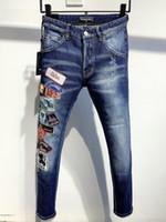 DSQ Phantom Tortue Classic Fashion Homme Jeans Hip Hop Rock Moto Mens Décontracté Design Décontracté Jeans Détoné Skinny Denim Biker DSQ Jeans 2040