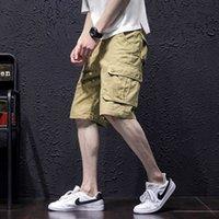 Tuta da montaggio allentato, capris, ingrassamento della gioventù estivo da uomo, oversize, alla moda, grassi, pantaloni casual coreani