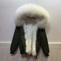 여성용 모피 가짜 미니 폭격기 순수 재킷, 짧은 스타일 RIP 슬리브 두꺼운 파카 부인 착용