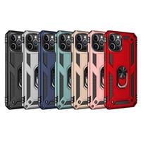자동차 홀더 금속 손가락 링 브래킷 케이스 아이폰 13 프로 미니 12 11 xr xs 최대 x 8 7 6 SE 2020 갤럭시 S21 플러스 수비수 갑옷 하이브리드 Shockproof 충격 콤보 무거운 덮개