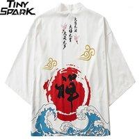 جاكيتات رجالية اليابانية كيمونو سترة كانجي الصينية زن البوذية المتناثرة 2021 الهيب هوب الرجال اليابان الشارع الشهير الصيف الملابس فضفاض كيمونو 1