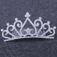 Elmas Kalp Taç Bandı Headdress Kristal Gelin Tiara Tarak Düğün Doğum Günü Pageant Parti Moda Takı Will ve Sandy