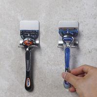 Titulaire de rasoir mural Hommes Shaving Shaving étagère 304 Porte-rasoir en acier inoxydable Rasage Rasoir Rasoir Rasoir Salle de bain Viscose Razor Crochet FFC5317