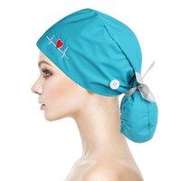 Beanies 1 PC 여성 남성 조정 가능한 작업 모자 버튼 패션 긴 머리 모자 포니 테일 홀더 코튼 넥타이 다시 모자