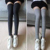 Aşırı Diz Kadınlar Kış Sıcak Yün Katı Uzun Tayt Kalınlaşmak Kazık Çorap Boot Beenwarmers Kızlar LWB014 Kapaklar