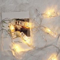 Folder folder Dekoracyjne Lampy Night Market String Light Light Boże Narodzenie Oryginalność z klipsem 8 3yl N2