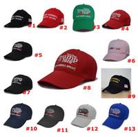 Hot 13 Styles Donald Trump Baseball Chapeau Star USA Drapeau Camouflage Cap Keep America Great Hats Lettre broderie 3D snapback réglable