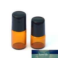 Roll-on Doldurulabilir Parfüm Şişe Deodorant içeriyor 2ml Uçucu yağlar için Merdane Bottles Mini Amber Rulo 1ml Sıcak Satış 100pcs