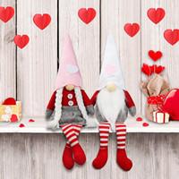 Dia dos namorados Gnome Decorações de boneca de pelúcia Sr. e sra. Handmake escandinavo para o dia dos namorados ornamento de mesa dia dos namorados HH21-69