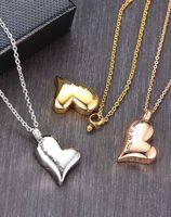 2020 из нержавеющей стали персиковое сердце ожерелье мемориальное кремация Урн медальон кулон костяная зола ювелирные изделия для мужчин W SQCMLO COLL2019