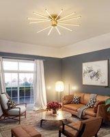 İskandinav minimalist modern led tavan ışıkları ana yatak odası çalışma sıcak kişilik led oda altın havai fişek tavan lambaları