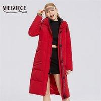 Miegofce Kış Yeni kadın Pamuk Ceket Orta Uzun Biyo Polar Dolgu Rüzgar Geçirmez Kadın Ceket Moda Şık Ceket Parkas 201210