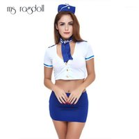 ms ragdoll sexig flygledare enhetlig cosplay stewardess kostymer kvinnor heta babydoll sexig erotisk underkläder underkläder rollspel1