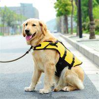 Pet Dog Life Jacket Pet Life Jacket Bezpieczeństwo Odzież Dla Pet Life Kamizelka Kamizelka Kąpiel Swimsuit Safel Swimsuit Dog Siatek Żółty