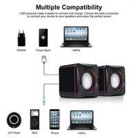مزيج المتكلمين المحمولة الكمبيوتر USB بدعم سطح المكتب مصغرة مكبر الصوت باس نظام مشغل الموسيقى الصوت السلكية سماعات صغيرة 1