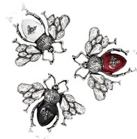 Vintage Böcek Arı Broşlar Pines Moda Takı Yaka Pin Metal Böcek Broşlar Ziyafet Broche Hediye Şapka Eşarp Yaka PS1013