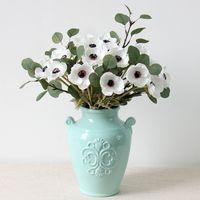 Real Touch Anemone Artificiale Anemone Flores Flores Artificiale per la holding di nozze Fiori finti Giardino domestico Corona decorativa GGA