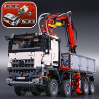 3245 PCS Technic Series Arocs Modelo Building Block Tijolos Caminhão Educacional Ano Novo Presentes 05007 90005 Compatível com Brinquedos 42043 Q0123