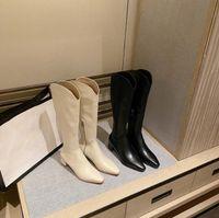 Ботинки 2020 зимняя женская обувь сапоги квадратные пальцы толстые пятки бортовые моды сапоги на молнии