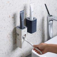 Набор ванн, набор для ванн для зубной пасты, диспенсер для пылезащитный настенный настенный автоматический сжатый ванная комната ленивый сжимание