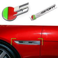 3D STEREO METAL EMBLEM BADGE BODGE CARDIUM Fender R-Sport R S Logo Sticker pour Jaguar XF XE XJ XF F-PACE E-PACE I-PACE Type S