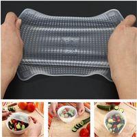 Stretch 4pcs / Set Magic Silicone Wrap Seal Cover Tenere cibo fresco Cling film DU30