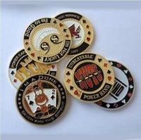 Metal Banker Basın Kartı Poker Chips Texas Hold'em Aksesuarları Hediyelik Hatıra Paraları Porker Yıldız Koruyucu
