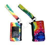 Neopren-Geldbörse ID-Kartenhalter Wristlet Wallets Mini Taschen Wasserdichte Sonnenblume Druck Fashion Handbag-Pass-Abdeckung Münzfach F102202