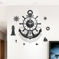 Luminoso grande orologio da parete Pendoulum Vintage Soggiorno Creativo Stile europeo Stile Orologi da parete Silent Reloj Pared Home Decor DL60WC