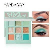 cosmetics HANDAIYAN Eye Makeup Eyeshadow Pallete 9 Color Shimmer Pigmented Eye Shadow Maquillage Matte Shimmer Eye Shadow Powder Beauty