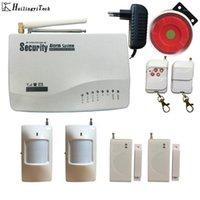 Sistemas de alarme Sistema sem fio GSM Dual Security Home Signal 900/1800 / 1900MHz Suporte Russo / Inglês1