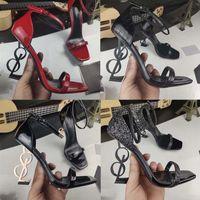 Новые высококачественные женские каблуки для обуви дамы плоские женские тенденции классики элегантный горный хрусталь пионовые пальцы одеваются обувь обувь 02/06