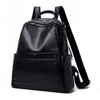 Frauen Leder Rucksack Weibliche Umhängetasche SAC A DOS Travel Rucksack Bagpack Schultaschen für Teenager Mädchen Mochilas adrette Stil