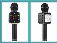 أفضل الأسرة WS1818 KTV Karaoke Mic 1200mAh البطارية اللاسلكية المحمولة بلوتوث ميكروفون المتكلم مع تسجيل للجوال الصمام السفينة سريعة