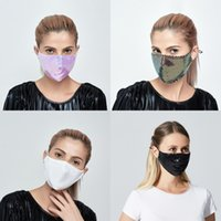 Fashion Black Earloop Mascarilla Mermaid Sequin Can Put Pm2.5 Filter Face Mask Lady Outdoor Foldable Protection Mouth Respirator 4 6sm G2