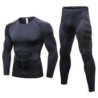 Feanceey Anti Microbial Invierno Termo Ropa interior Hombres térmicos Long Johns Ropa térmica Rashgard Kit Larga Compresión Underwear1