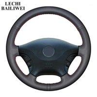 Couvercle de volant de voiture à cousure à la main de bricolage noir pour VITO 2010-2020 Viano W639 2006-20111