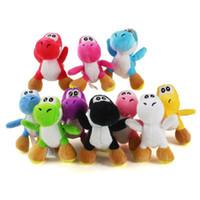10 farbe luigi bros yoshi dinosaurier drache bunte plüsch spielzeug anhänger schlüsselanhänger gefüllte puppen