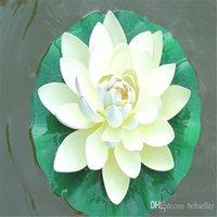 Dekorative Blumen Kränze 10 cm Durchmesser Künstliche Lotus Blume Floating Wasser Für Weihnachten Ornament Hochzeit Dekoration Liefert